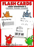 Ok�adka: Thompson John,  Easiest Piano Course: Flash Cards