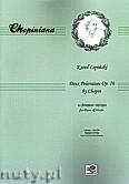 Okładka: Chopin Fryderyk, Dwa Polonezy op. 26 na fortepian i skrzypce