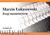 Okładka: Łukaszewski Marcin Tadeusz, Exegi monumentum