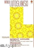 Okładka: Lutosławski Witold, Słomkowy łańcuszek i inne dziecinne utwory- partytura i głosy