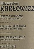 Ok�adka: Kar�owicz Mieczys�aw, Smutna opowie�� (preludia do wieczno�ci) op.13- poemat symfoniczny- partytura Dzie�a X