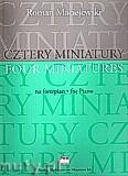 Okładka: Maciejewski Roman, Cztery miniatury na fortepian