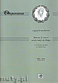 Okładka: Franchomme Auguste, Morceau de concert sur des motifs de Chopin na wiolonczelę i fortepian