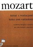 Okładka: Mozart Wolfgang Amadeusz, Temat z wariacjami z divertimenta D-dur