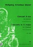 Okładka: Mozart Wolfgang Amadeusz, Koncert A-dur KV 622 na klarnet (wyciąg fortepianowy)