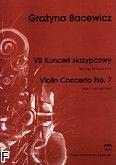 Okładka: Bacewicz Grażyna, VII Koncert skrzypcowy (wyciąg fortepianowy)