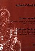 Okładka: Vivaldi Antonio, Koncert g-moll na skrzypce, orkiestrę smyczkową i b.c. (wyciąg fortepianowy)