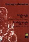 Okładka: Geminiani Francesco Saverio, Sonata A-dur op. 1 nr 1 na skrzypce i klawesyn (fortepian)