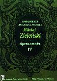 Okładka: Zieliński Maciej, Opera Omnia IV