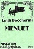 Okładka: Boccherini Luigi Rodolpho, Menuet A-dur