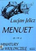 Okładka: Jelicz Lucjan, Menuet op.1.nr. 4