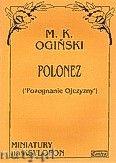 Okładka: Ogiński Michał Kleofas, Polonez