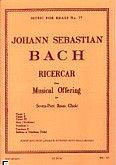 Okładka: Bach Johann Sebastian, Ricercar from musical offering brass septet/score and parts (partytura+głosy)