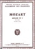 Okładka: Mozart Wolfgang Amadeusz, Sonate N°1 en Sol Maj. - 4 Mains