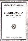 Okładka: Mendelssohn-Bartholdy Feliks, Variations sérieuses op.54