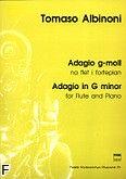 Okładka: Albinoni Tomaso, Adagio g-moll na flet i fortepian