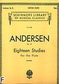 Okładka: Andersen Joachim, 18 Studies for Flute, Op. 41