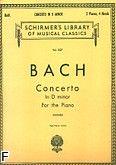 Okładka: Bach Johann Sebastian, Concerto in D minor for the Piano