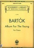 Okładka: Bartók Béla, Album for the Young for the Piano