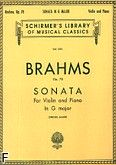 Okładka: Brahms Johannes, Sonata In G Major, Op. 78 (Piano / Violin)