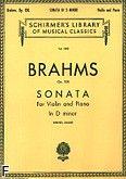 Okładka: Brahms Johannes, Sonata In D Minor, Op. 108 (Piano / Violin)