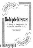 Okładka: Kreutzer Rodolphe, 42 etiudy na skrzypce (1-21)
