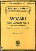 Okładka: Mozart Wolfgang Amadeusz, Koncert na róg F nr 1 (róg i fortepian)