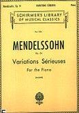 Okładka: Mendelssohn-Bartholdy Feliks, Variations sérieuses op. 54