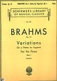 Okładka: Brahms Johannes, Variations on a Theme by Paganini, Op. 35 - Book 1
