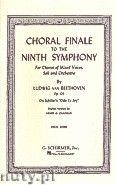 Okładka: Beethoven Ludwig van, Choral Finale To The Ninth Symphony op. 125 (