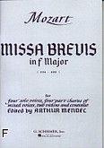 Okładka: Mozart Wolfgang Amadeusz, Missa Brevis In F, K.192