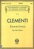 Okładka: Clementi Muzio, Sonatinas For the Piano, op. 36, 37, 38