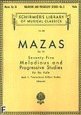 Okładka: Mazas Jacques-Féréol, 75 melodycznych etiud ułożonych progresywnie w trzech częściach, op. 36, z. 2: Brilliant Studies