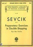 Okładka: Sevcik Otakar, Ćwiczenia wstępne na zatrzymanych dźwiękach, op. 9