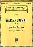 Okładka: Moszkowski Maurycy, 5 Tańców hiszpańskich, op. 12 na fortepian - 4 ręce