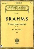 Okładka: Brahms Johannes, 3 Intermezzi, op. 117