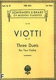 Okładka: Viotti Giovanni Battista, Three Duets for Two Violins, Op. 29