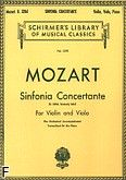 Okładka: Mozart Wolfgang Amadeusz, Sinfonia Concertante K. 320d (formerly 364)