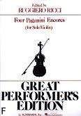 Okładka: Paganini Niccolo, 4 Paganini Encores
