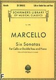 Okładka: Marcello Benedetto, Six Sonatas for Cello or Double Bass and Piano
