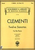 Okładka: Clementi Muzio, 12 Sonat w dwóch częściach z. 2 (nry 8-12)