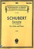 Okładka: Schubert Franz, Sonata Per Arpeggione na altówkę i fortepian