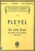 Okładka: Pleyel Ignaz Joseph, Six Little Duets, Op. 8 For Violin (or Two Violins) and Piano