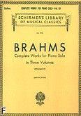 Okładka: Brahms Johannes, Komplet dzieł na fortepian w trzech częściach, z. 3