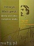 Okładka: Wieniawski Henryk, Legenda op. 17 na skrzypce i fortepian (seria A, t. V)