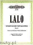 Okładka: Lalo Édouard Victor Antoine, Symphonie Espagnole for Violin and Orchestra, Op. 21