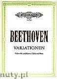 Okładka: Beethoven Ludwig van, Variations for Violoncello and Piano