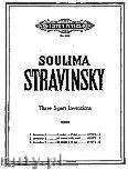 Okładka: Stravinsky Soulima, 3 Inventions in 3 - parts