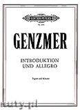 Okładka: Genzmer Harald, Introduction and Allegro