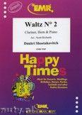 Okładka: Szostakowicz Dymitr, Waltz N° 2 for Clarinet, Horn and Piano